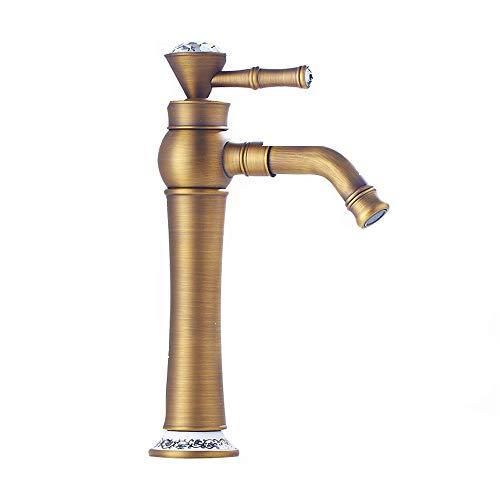GCCLCF Wasserhahn Multifunktional Kupfer Keramik-Ventil Kern Retro,Brass
