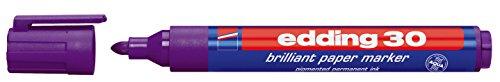 edding Pigmentmarker edding 30 brilliant paper marker, 1,5 - 3 mm, violett