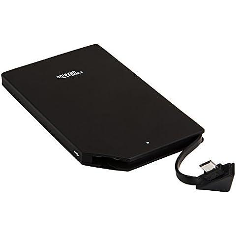 AmazonBasics - Cargador de batería externo portátil (2000 mAh, tamaño Ultra delgada)
