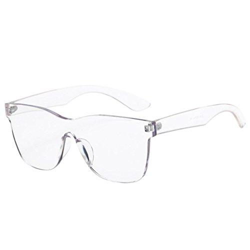 Dragon868 Sonnenbrille Damen Quadrate Shades Sonnenbrille Integrierte UV Candy Colored Glasses (Weiß, Sonnenbrille)