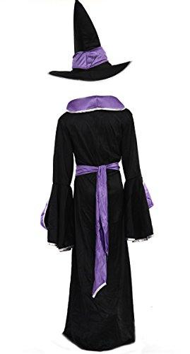 Imagen de disfraz de bruja para niños – negro, azul – talla l  8 10 años alternativa