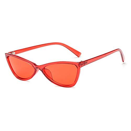CHENGZI Kleine Cat Eye Sonnenbrille Für Frauen Dekoration Schwarz Dreieck Rote Sonnenbrille Frauen...
