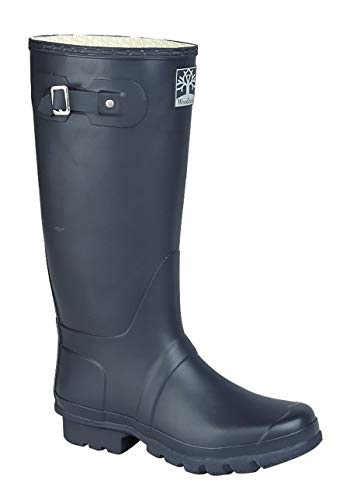 Woodland Heavy Duty Rubber Wide Fit Wellies Wellington Boots