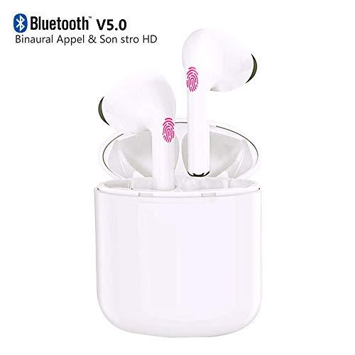 Auriculares inalámbricos Bluetooth,Cascos Bluetooth 5.0 Estéreo In-Ear Deportivos con Micrófono...