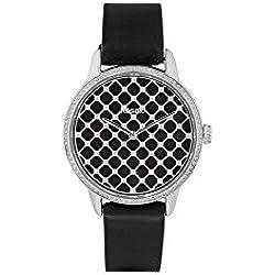 Uhr Rosé Damen rwro02Quarz (Batterie) Stahl Quandrante schwarz Armband Leder