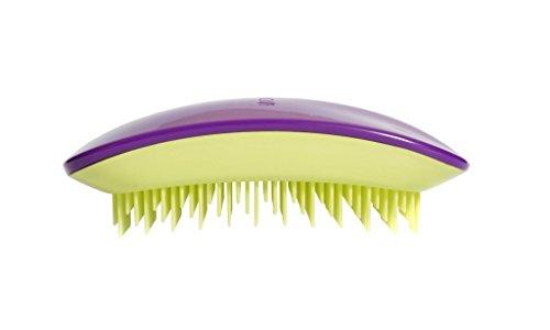 Tangle Brosse à cheveux démêlante professionnelle Souris, Violet/Vert Citron