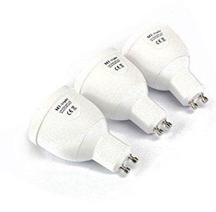 Mi-Light Erweiterungspack: 3 x GU10 LED 4W 1,6 Millionen Farbe Warm White Lampen für Mi-Light dimmbar WLAN, 2,4-GHz-RF-Fernbedienung, Android und iPhone Control System [Energie-Effizienzklasse A]