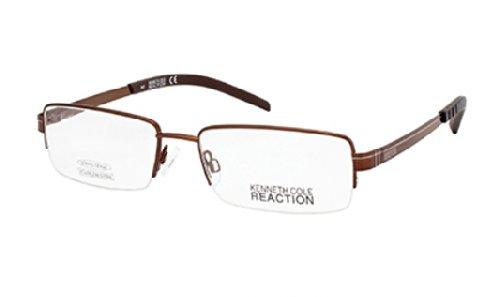 kenneth-cole-reaction-monture-lunettes-de-vue-kc0742-048-marron-brillant-53mm