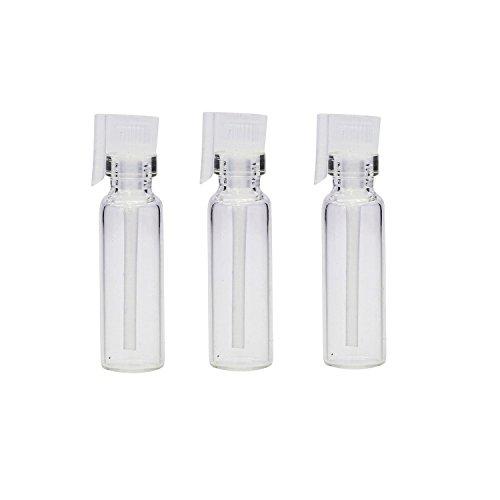 20 pezzi piccoli flaconcini in vetro trasparente. Flaconcini vuoti e ricaricabili per campioni di profumo, cosmetici liquidi, oli essenziali per aromaterapia. Contenitori per profumo , 2ml