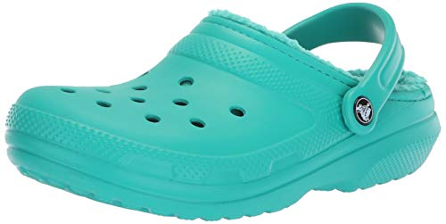 crocs Classic Lined Clog, Unisex-Erwachsene Clogs, Blau (Tropical Teal/Tropical Teal), 38/39 EU