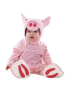 Clown Republic 01648/48 - Disfraz infantil unisex, diseño de cerdo, color blanco