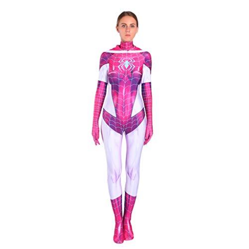 ZYSYSL Spider-Gwen Frauen Spiderman Kostüm Kinder Rollenspiele Kleidung Bodysuit Spandex Overalls Cosplay Kostüm,Pink-Kids ()
