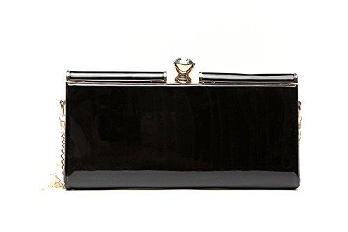 Borsa, sacchetto, pacchetto, piccolo pacchetto, sacchetto di busta di grande capacità, pacchetto banchetto di cena ( Colore : Nero ) Nero