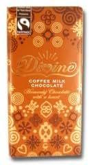 Pack Of Three Divine Coffee Chocolate Bar (Fair Trade)