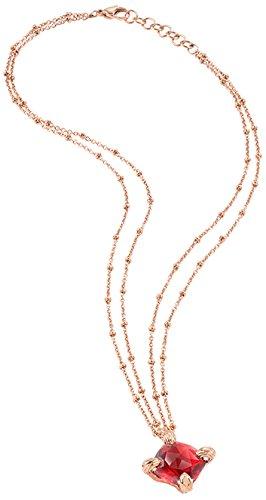 Just Cavalli Damen-Kette mit Anhänger Solitaire Vergoldet Zirkonia rot 45 cm - SCAAB01