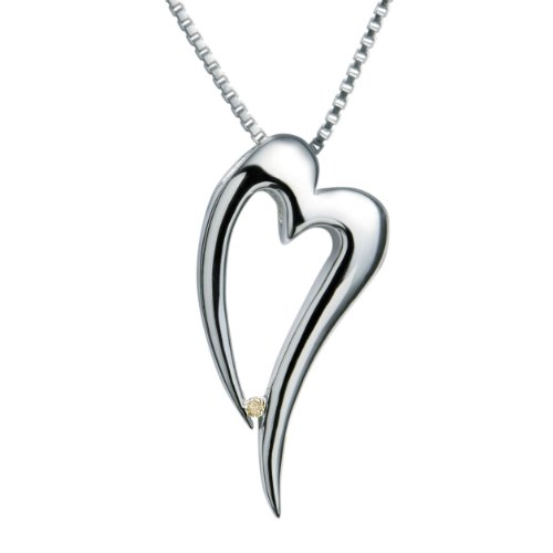Hot Diamonds - Collana da donna con diamante (0,01 ct), argento sterling 925, 45 mm, cod. DP088