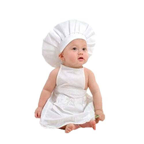 Von Kostüm Kleinkind Bilder Für - Yujum Weiß Schürze Hutklage Chef Kleidung Fotografie Props Baby-Kind-Kleinkind-Shooting Props Kostüm