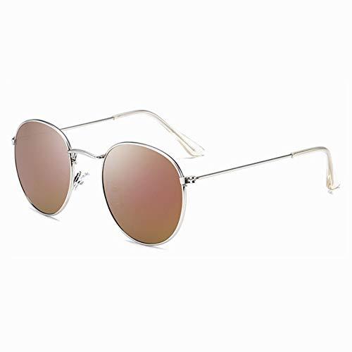 Sonnenbrille Retro Runde Sonnenbrille Frauen Männer Designer Sonnenbrillen Für Frauen Legierung Spiegel Sonnenbrille Kleine Gesicht Weiblich Silber Perple