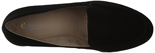 Easy Spirit e360 Margy Femmes Cuir Mocassin Black