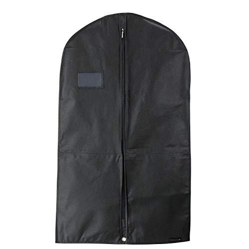 Hangerworld 3 atmungsaktive Kleidersäcke mit 2 Innentaschen 100cm Schwarz Kleiderschutzhülle