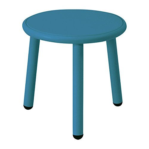Emu Yard - Table d'appoint de Jardin Ø 40cm Bleu/Bleu/Plateau de Table Aluminium Bleu/H 40cm, Ø 40cm/Structure Aluminium Bleu