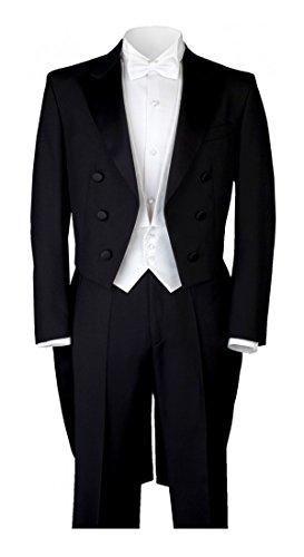 Costume gentleline Classic et queue de pie Blanc (5pièces), Schwarz, 44