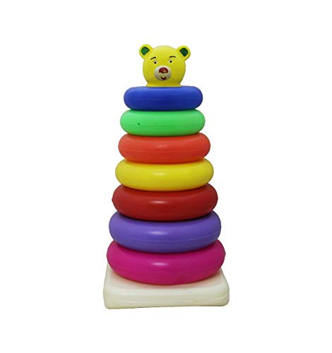 TanMan Multicolored Teddy Stacking Ring Toys for Kids ( 7 - Rings )