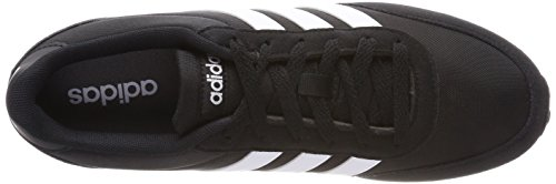 adidas Herren V Racer 2.0 Laufschuhe Schwarz (Core Black/solar Red/footwear White 0)