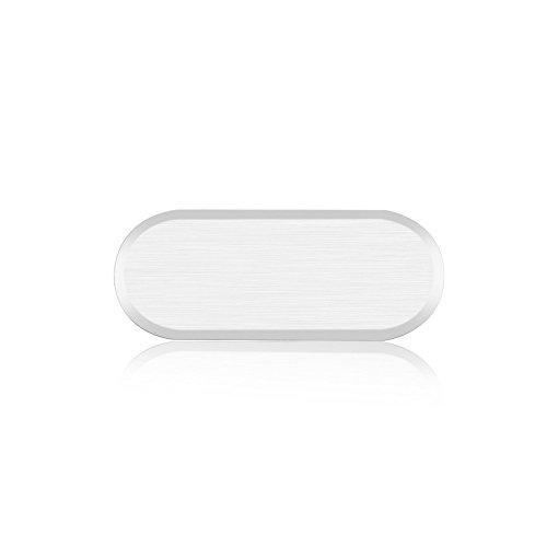 Distinct® Metall Draht Zeichnung Home Taste Aufkleber für Samsung Galaxy S6/S7 Silber