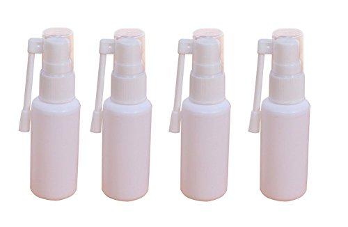 6360Grad Revolve Kunststoff Spray bottles-refillable Kosmetik Make-up Parfüm Container Gläser Topf mit Nasal Spritze (weiß), Kunststoff, weiß, 30 ml -