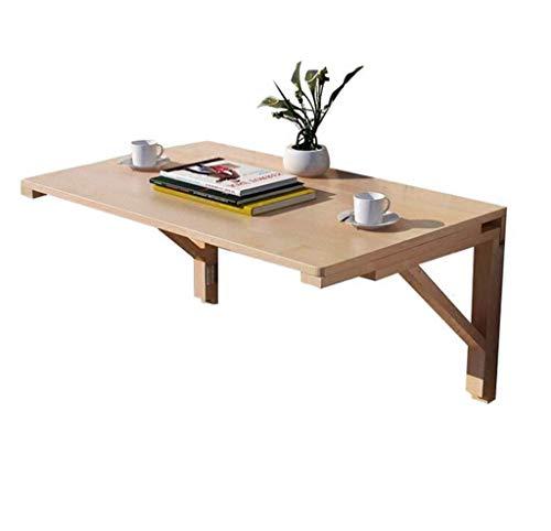 ZGYQGOO Tisch Massivholz Esstisch für kleinen Raum, Wandklappcomputer Schreibtisch Wand Lernen Drop-Blatt Schreibtisch (Größe: 100 * 60 cm)