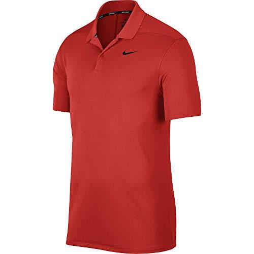 Nike Herren Dri-Fit Victory Poloshirt, Habanero Red/Black, XL - Red Golf-polo-shirt