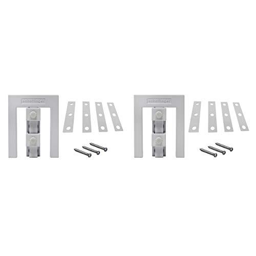 Scheffinger EM3 weiss, Fenstersicherung für Fenster oder Türen aus Kunststoff/Holz/Aluminium, Einbruchschutz DIN zertifiziert, hochwertiger massiver Stahl, 2er Set