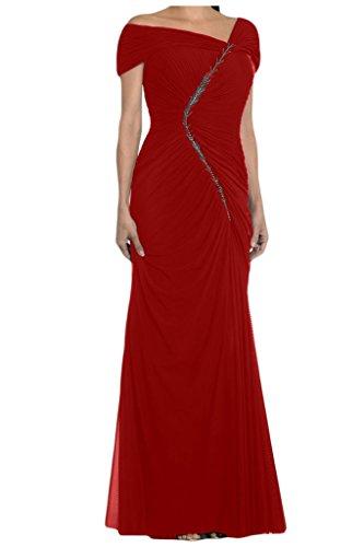 Toscana sposa general-case audio metrico Chiffon stanotte abiti da sposa madre un'ampia Party ball per vestiti Rosso