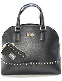 BLUGIRL Borsa doppio manico corto tracolla nera fiocco collezione 2019 6959209a8a3