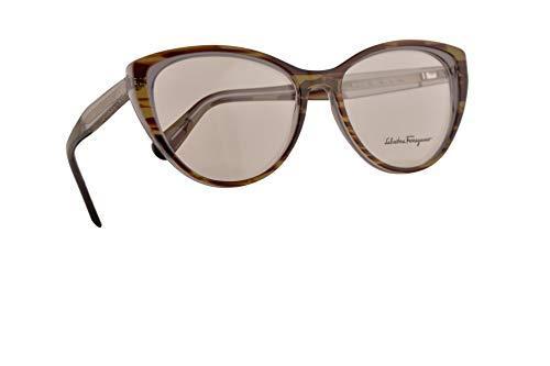Salvatore Ferragamo SF2812 Brillen 55-16-140 Grau Braun Mit Demonstrationsgläsern 027 SF 2812