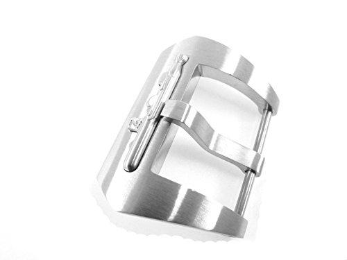 jrrs777724mm acero inoxidable tornillo de submarino en hebilla Pre V tono plateado pulido reloj Panerai