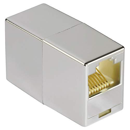 Hama CAT-6 Netzwerkadapter (Netzwerk-Kupplung mit 2x Modular 8p8c (RJ45)-Buchse, zur Verlängerung von LAN-/Ethernet-Kabeln, abgeschirmt, Patchkabel-Verbinder, Modular-Kupplung) -