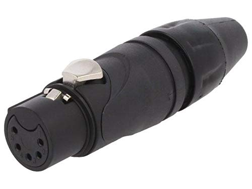 AX5FB Plug XLR female PIN 5 straight for cable soldering tinned -