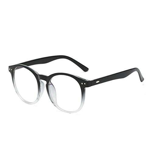 Computer Brille Anti Blue Light Blocking Filter Gaming Brillen Frauen Runde Leopard Klar Brillengestell (Frame Color : C5 Gradient Black)