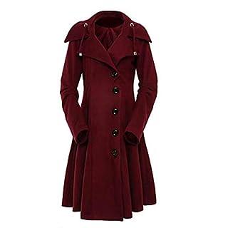 neuda Damen Mantel Winter Lange Wintermantel Trenchcoat Elegant Gothic  Mäntel mit Asymmetrisch Saum f9498136a6