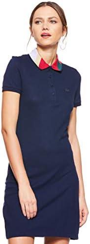Lacoste Shirt Dress for Women - Navy Blue 36 EU (192536960696-blu)