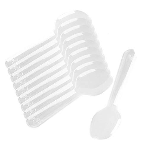 weg-Probierlöffel Kunststoff Mini Löffel Geleelöffel Puddinglöffel Eiscreme Löffel Dessert Kuchen Löffel für Lebensmittel, Eis oder Gewürze ()