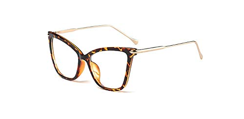 Muxplunt - sexy Schwarze Katze Auge klare Linse weibliche Gläser Art und Weise Neue Brillen optische Rahmen Frauen Gläser Klar Goggles [Leopard]