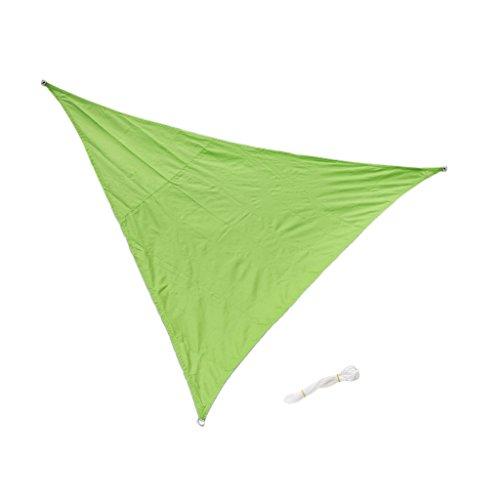 MagiDeal Voile d'Ombrage Triangulaire en Polyester Toile Anti UV Pare-soleil pour Extérieur Jardin Piscine - Vert, 3m