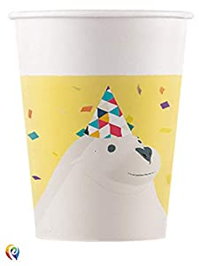 Procos PR85651 - Juego de 8 vasos de papel, multicolor