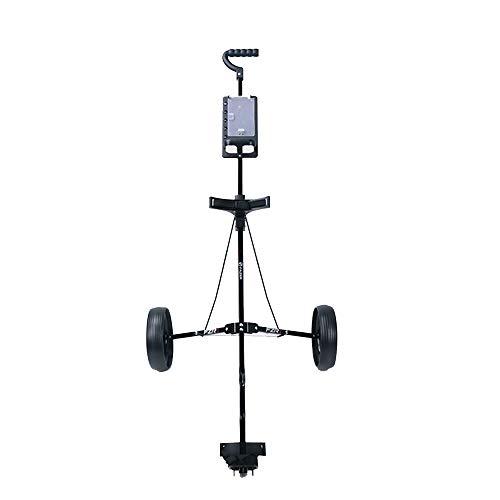 Yhjklm Golfwagen Golf Cart Swivel Faltbarer 2-Rad-Push-Pull-Wagen Golf-Trolley-Golf-Push-Wagen Robustes Leichtgewicht -