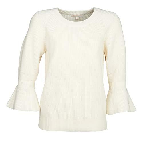 Michael MICHAEL KORS Shaker Round SLV Pullover & Strickjacken Damen Weiss - XL - Pullover (Strickjacke Von Michael Kors)