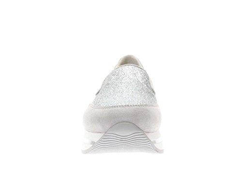 Hogan Donna Sneaker HXW2220T671G4D3678 Sneaker h222 Slip On Argento