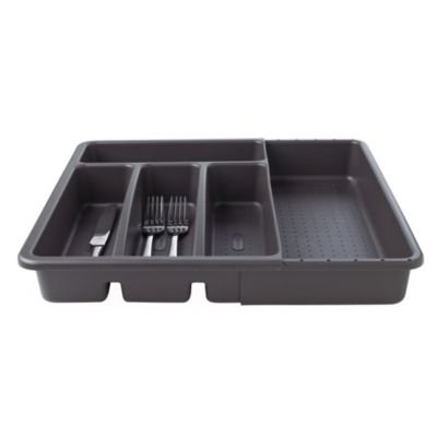 Lakeland Expandable 4-5 Hole Cutlery Organiser Tray -Granite